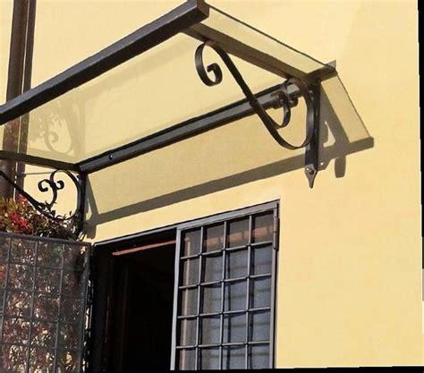 tettoia in ferro e vetro pensilina in ferro classica con vetro