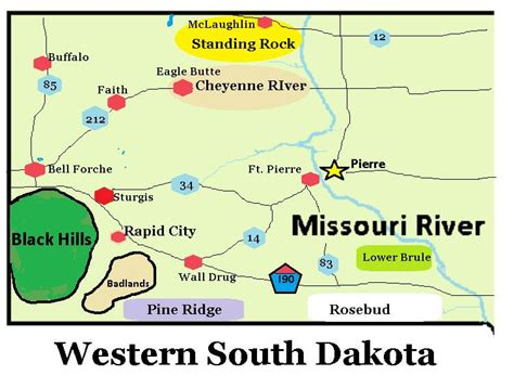 dakota travel map maps update 500327 south dakota travel map south