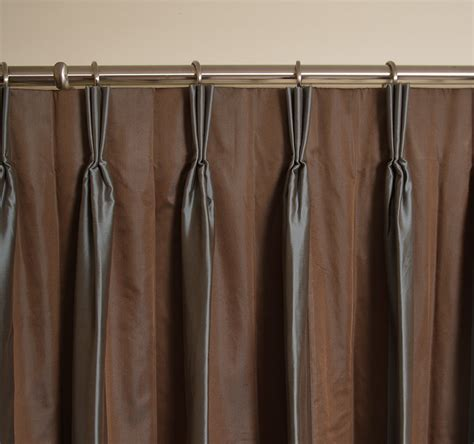 drapery pleats types custom sheer drapes drapestyle com