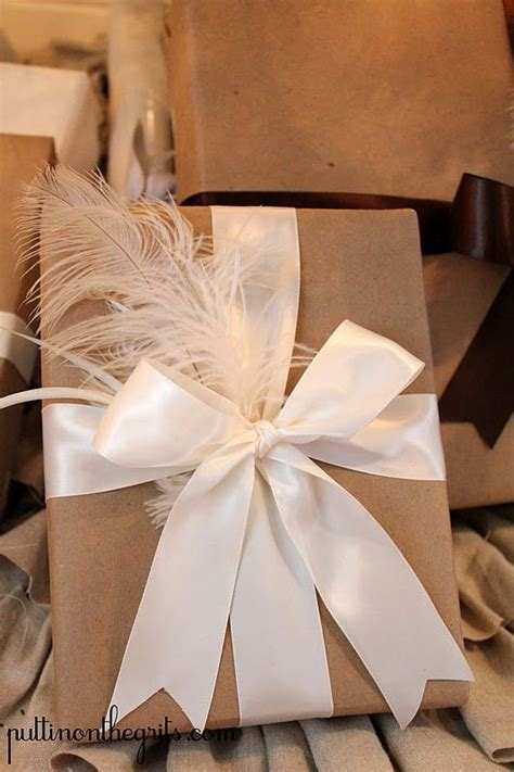 wrapping gift one of my favorite ways of wrapping a gift simple and