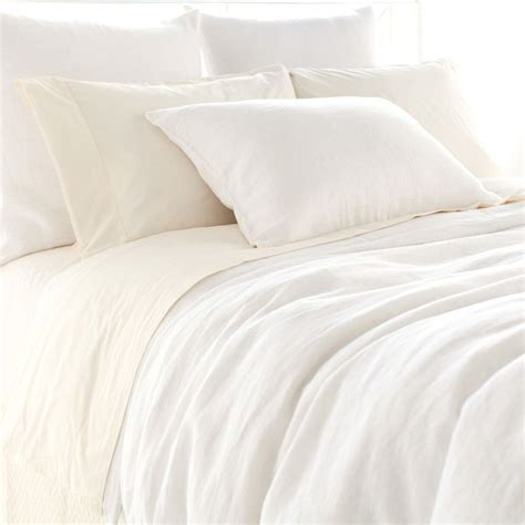 pine cone comforter pine cone hill stone washed linen white duvet cover