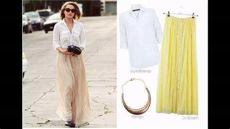 como combinar una falda larga moda tendencias c 243 mo combinar una falda blanca youtube