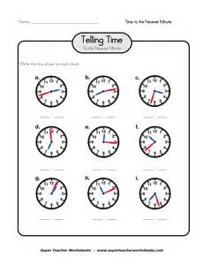 clock telling time worksheet printable printable