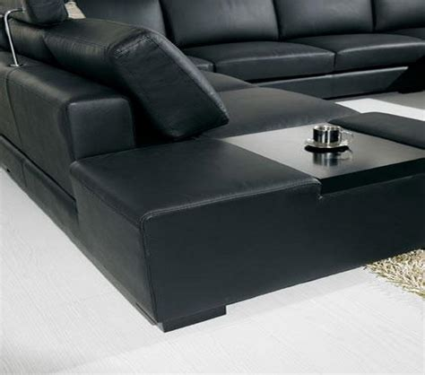T35 Sectional Sofa Dreamfurniture Divani Casa T35 Modern Leather Sectional Sofa With Light