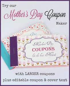 free coupon maker template free printable mothers day coupons