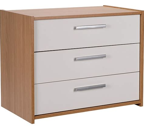 Black Chest Of Drawers Argos by Buy Home New Sywell 3 Drawer Chest Oak Effect White