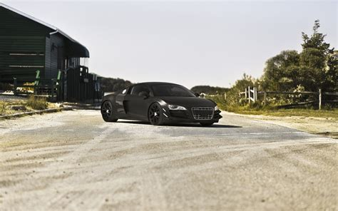 audi r8 wallpaper matte audi r8 black matte road wallpaper 1920x1200 15917