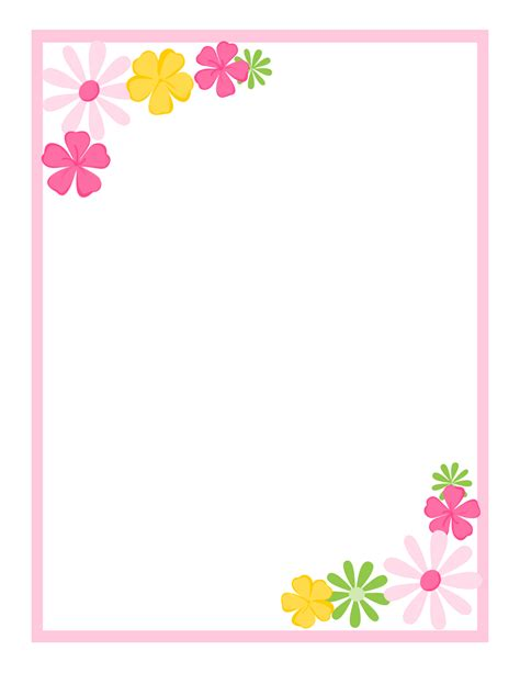 free printable borders flowers tricia rennea designs cards scrapbook pinterest