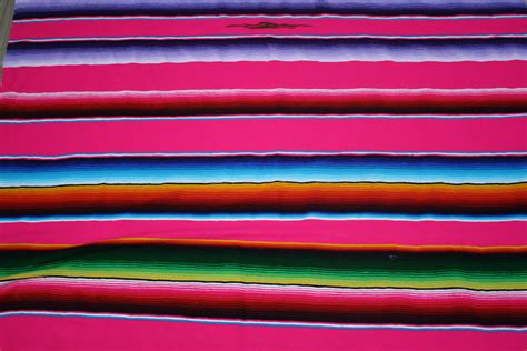 Colored Kitchen Canisters by Serape Blanket Primary Color Pink By 3rdgenerationgypsy On