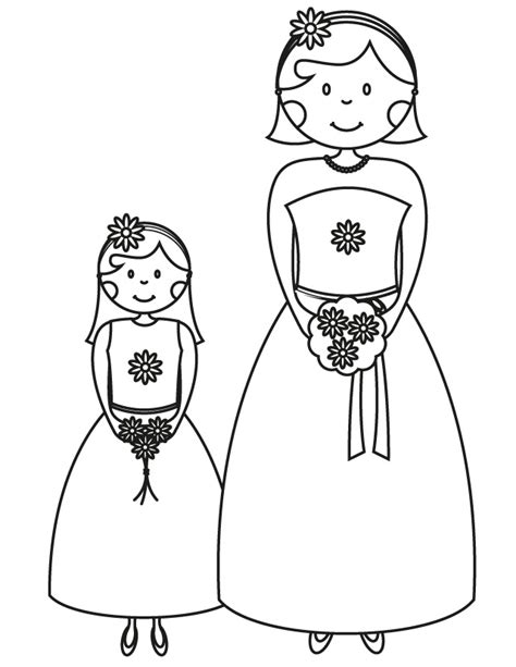 coloring pages flower girl 17 wedding coloring pages for kids who love to dream about