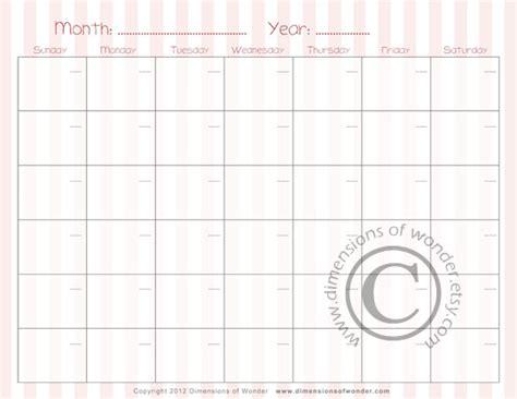 printable monthly calendar pink free printable monthly calendar n 176 2 by dimensions of wonder