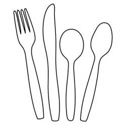 Spoons Outline by Cutlery Knife Fork Spoon Outline Shape Clipart Domain Pictures Free Pictures
