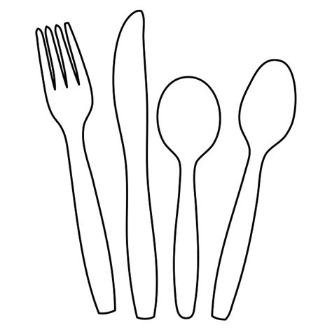 Spoons Outline by Free Illustration Cutlery Knife Fork Spoon Free Image On Pixabay 220218
