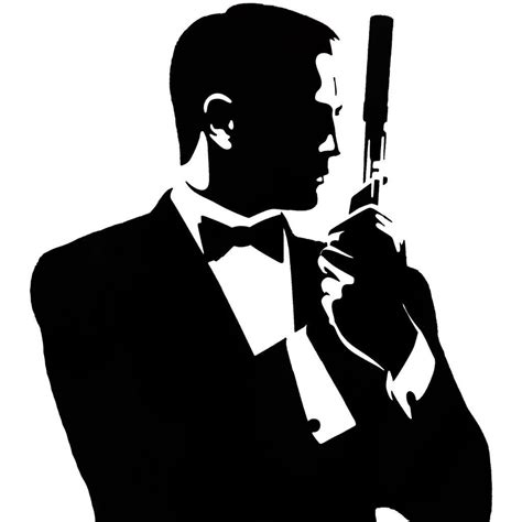 james bond silhouette 007 silhouette pictures to pin on pinterest pinsdaddy