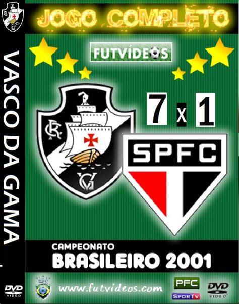 dvd vasco dvd vasco 7x1 sao paulo brasileirao 2001 grandes