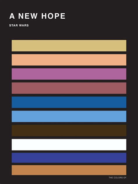 wars colors the colors of wars palettes fubiz media