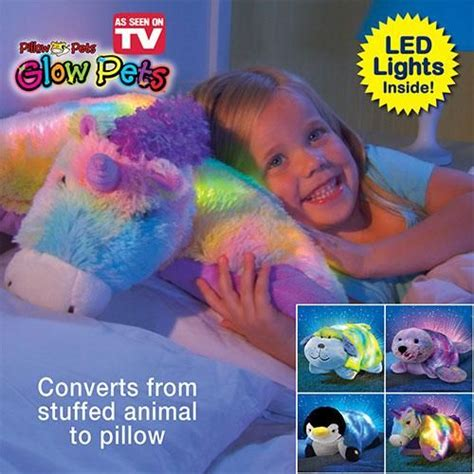 Glow Pets Light Up Stuffed Pillow From The