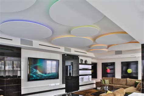 Home Theater Ceiling Lighting Miami Penthouse Mancave Gameroom Ceiling Lighting Contemporary Home Theater Miami By