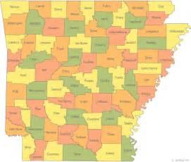 state of county map arkansas state project
