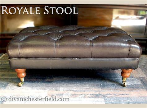 poggiapiedi divano pouf poggiapiedi chester originali in pelle nuovi made in