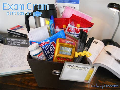 gift baskets for college students cram gift basket doodles