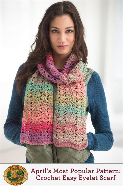 9 Fashion Statements For 2015 Lion Brand Yarn | lion brand s 9 most popular patterns from april lion