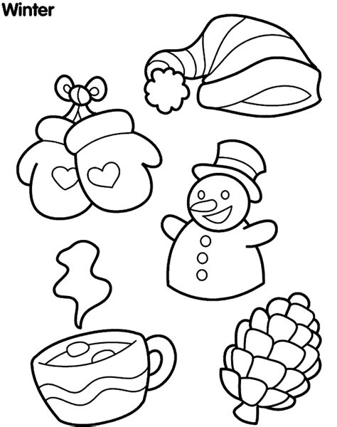 coloring pages about winter winter coloring pages kindergarten coloring home