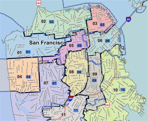 san francisco map by district redistricting will impact communities for next decade