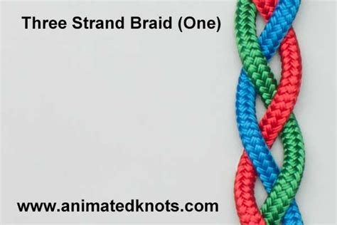 three strand braid or plait one how to tie knots thre strand braid one how to braid three strands one