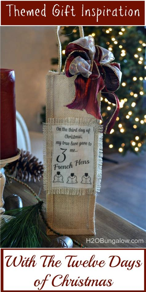 twelve days of christmas personalized gift bag