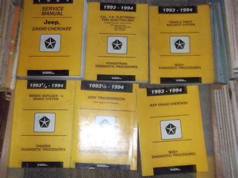 service and repair manuals 1994 jeep grand cherokee electronic valve timing find 1994 jeep grand cherokee shop service repair manual set oem factory w diagnostic motorcycle