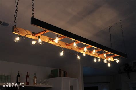 retro kitchen lighting ideas diy ladder light and retro decor light fixture ideas for