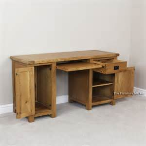 Large Computer Desk Rustic Oak Large Computer Desk