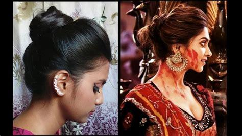 deepika padukone hair bun hairstyle 1 diwali special deepika padukone inspired