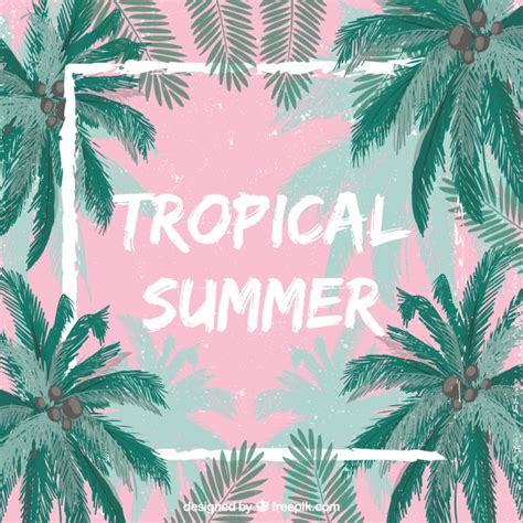 A Frame Style House tropical summer background vector free download