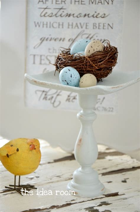 the nest home decor spring decor bird nest pedestal the idea room