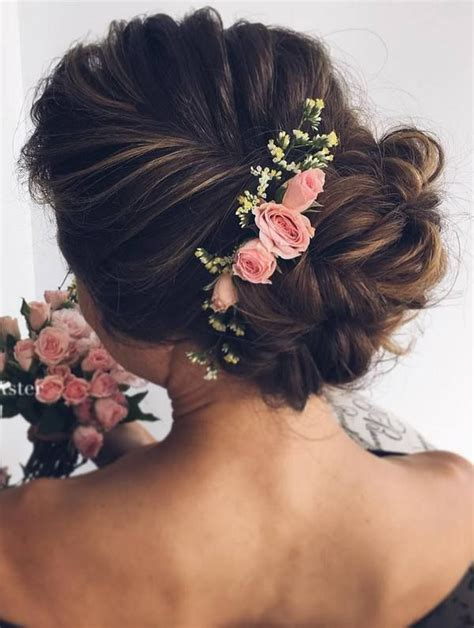 Flower Hairstyles For Hair by Best 25 Flower Hairstyles Ideas On Bridal