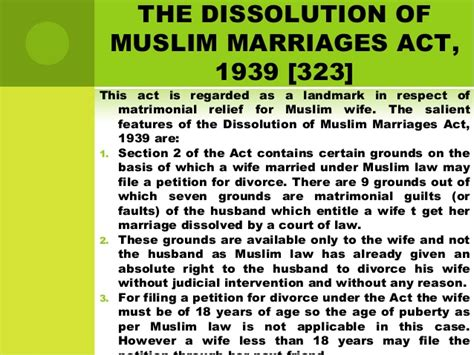 section 13 a of hindu marriage act divorce under muslim law