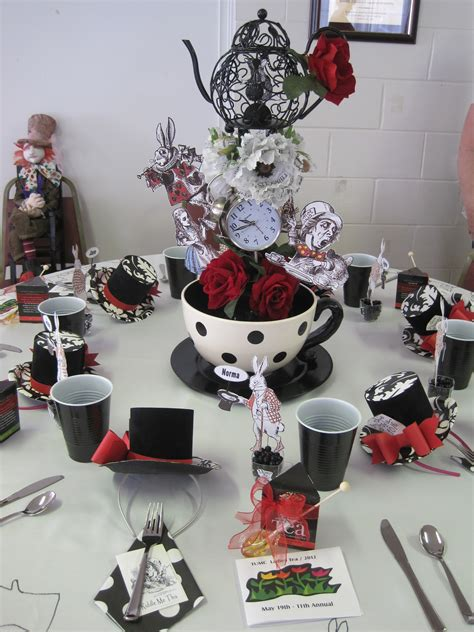 mad hatter themed decorations s tea the mad hatter table madhatter s tea