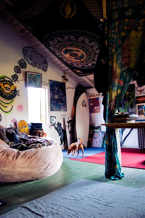 surfer bedroom hippie room bedroom design boho surf bohemian surfboard