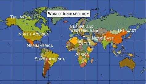world archaeology maps  timeline