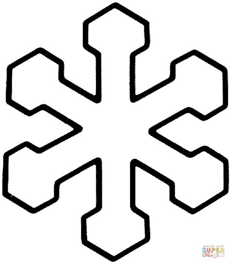 easy snowflake coloring pages simple snowflake coloring pages coloring home