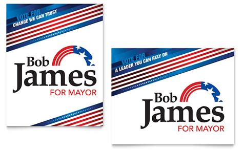 election posters templates political caign poster template word publisher