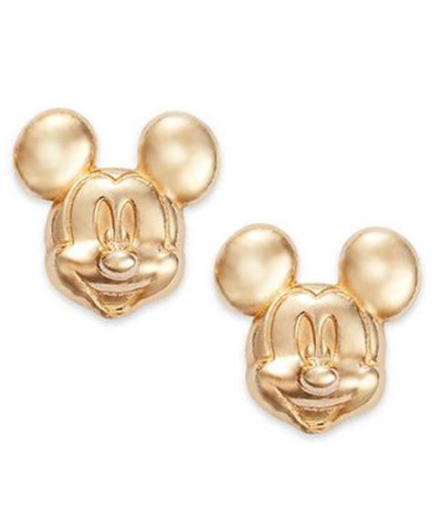 disney children s earrings 14k gold mickey mouse 3d stud