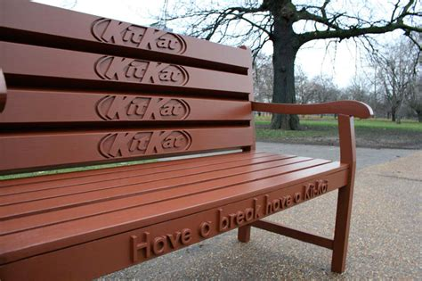 bench advertising the kitkat bench advertising
