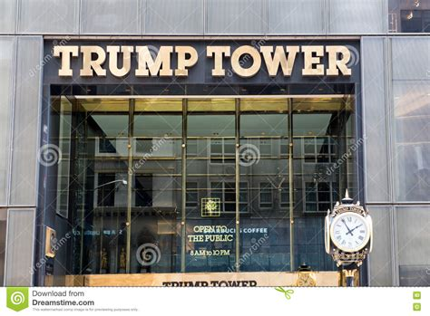 trump tower gold exterior of trump tower new york city usa editorial