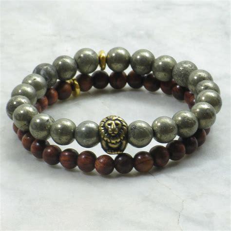 Regal Bracelets for Men   pyrite mala beads, mala bracelets stacks