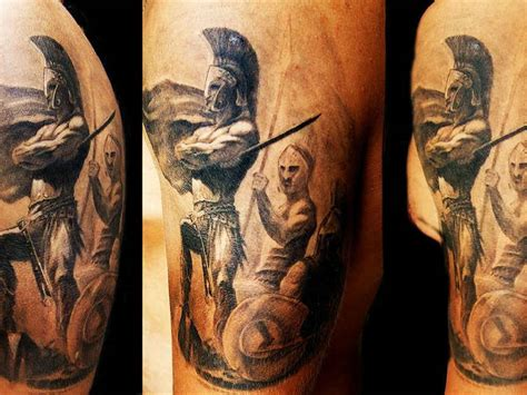 amazing spartan warrior tattoo photo 5 tatuagem