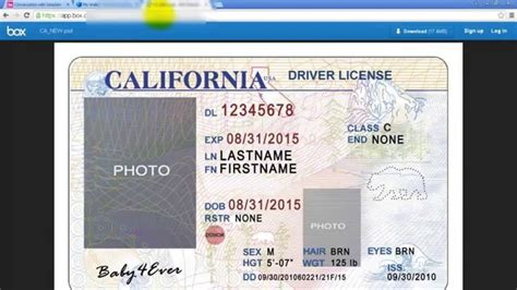 fake drivers license template gallery templates design