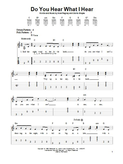 printable lyrics do you hear what i hear do you hear what i hear sheet music direct